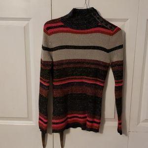 Long sleeve shiny sweater